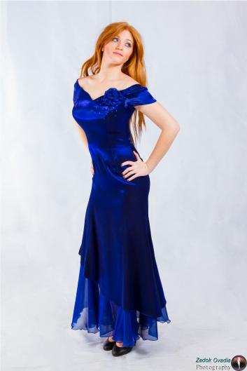 <h5>שמלה קלאסית  כחולה</h5>